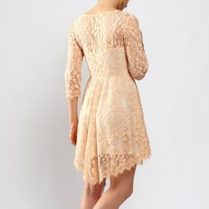 Free People Dresses - Free People Floral Mesh Lace Dress